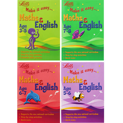 Letts Maths and English Guides Bundle image number 1