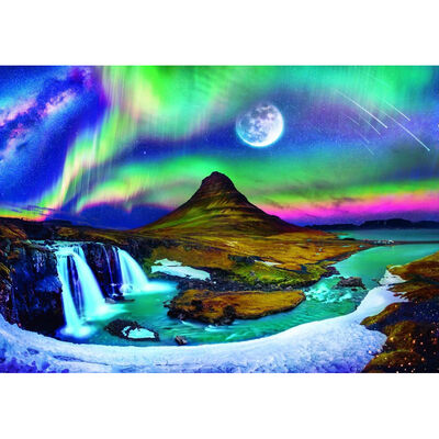 Aurora Over Iceland 600 Piece Jigsaw Puzzle image number 2