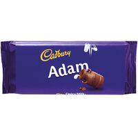 Cadbury Dairy Milk Chocolate Bar 110g - Adam