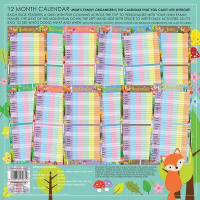 2021 Calendar: Mums Family Organiser image number 2