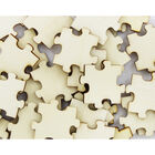 60 Wooden Puzzle Pieces - Natural image number 2