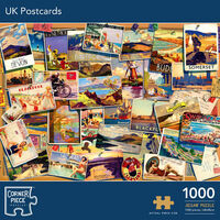 UK Postcards 1000 Piece Jigsaw Puzzle