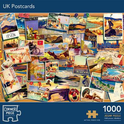 UK Postcards 1000 Piece Jigsaw Puzzle image number 1
