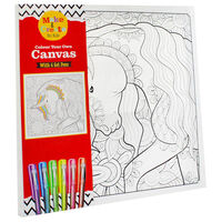 Colour Your Own Canvas with 6 Gel Pens - Unicorn