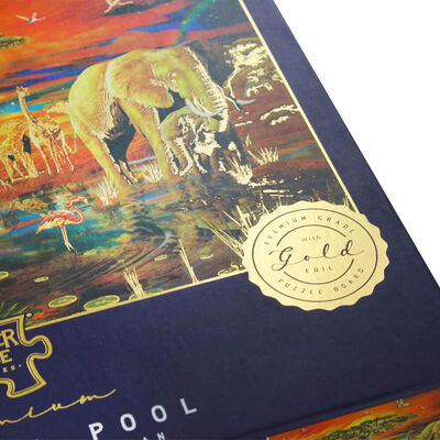 Savanna Pool 1000 Piece Gold-Foiled Premium Jigsaw Puzzle image number 3