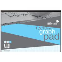 Silvine A3 Graph Paper: 1-5-10mm