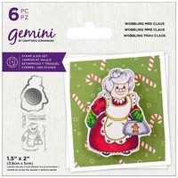 Gemini Stamp & Die Set: Wobbling Mrs Claus