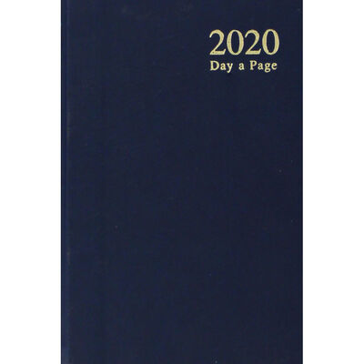 A6 2020 Blue Day a Page Diary image number 1