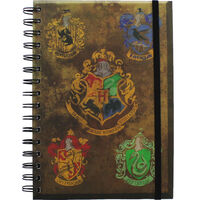 A5 Harry Potter Hogwarts Crest Notebook