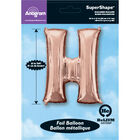 34 Inch Light Rose Gold Letter H Helium Balloon image number 2