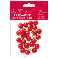 Red Decorative Berries: Pack of 24