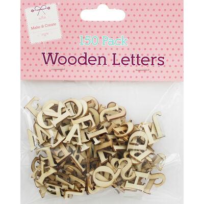 150 Wooden Letters - Natural image number 1