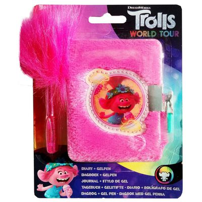 Trolls 2 Plush Diary With Pen image number 1