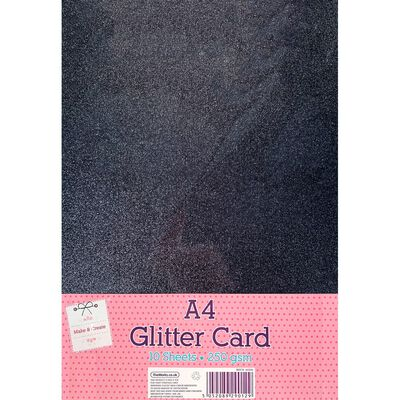 A4 Night Sky Glitter Card: Pack of 10 image number 1