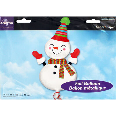 36 Inch Snowman Super Shape Helium Balloon image number 2