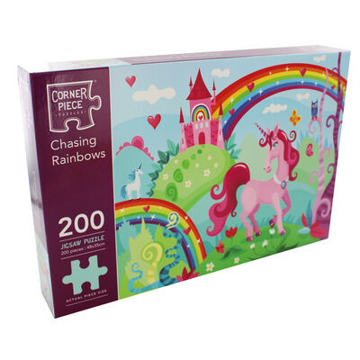 Chasing Rainbows 200 Piece Jigsaw Puzzle image number 1