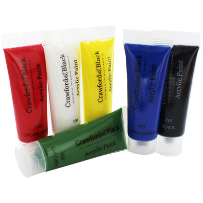 Crawford And Black Acrylic Paints - Set Of 6 image number 3