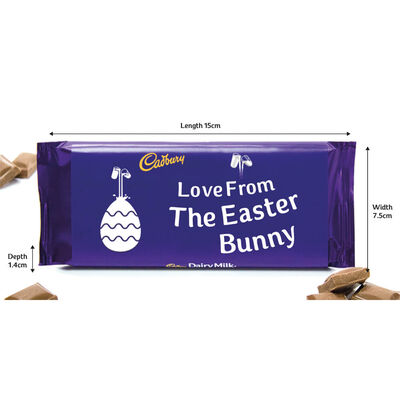 Cadbury Dairy Milk Chocolate Bar 110g – Love From The Easter Bunny image number 2