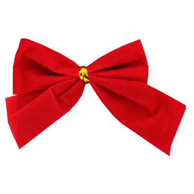 Red Ribbon Bows Pack of 12 image number 2