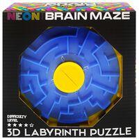 Neon Brain Maze 3D Labyrinth Puzzle
