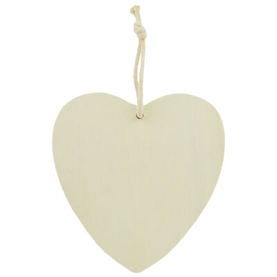 Wooden Craft Heart image number 1