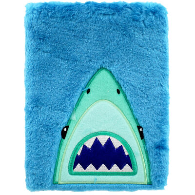 A5 Shark Plush Lined Notebook image number 1