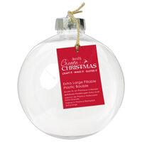 Fill Your Own Round Shaped Extra Large Bauble
