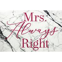 Mrs Always Right Cushion Lap Tray