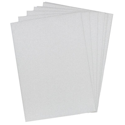 Crafters Companion Glitter Card 10 Sheet Pack - Pale Silver image number 2