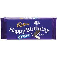 Cadbury Dairy Milk Oreo Chocolate Bar 110g - Happy Birthday