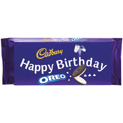 Cadbury Dairy Milk Oreo Chocolate Bar 110g - Happy Birthday image number 1