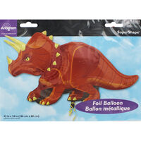 42 Inch Triceratops Super Shape Helium Balloon