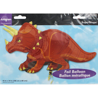 42 Inch Triceratops Super Shape Helium Balloon image number 2