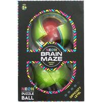 Neon Brain Maze Puzzle Ball