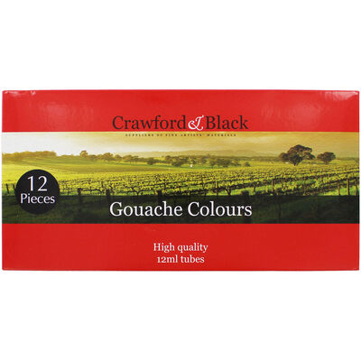 Gouache Colours - Set Of 12 image number 1
