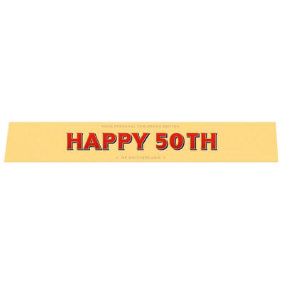 Toblerone Milk Chocolate 100g – Happy 50th image number 1