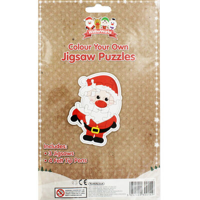 Colour Your Own Christmas Jigsaw Puzzles image number 3