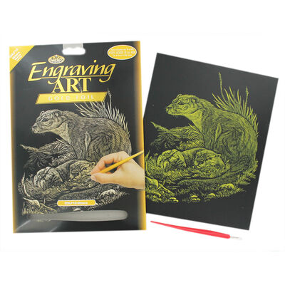 Otters Engraving Art image number 1