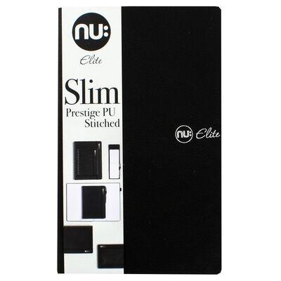 NU Elite Black Prestige PU Stitched Slim Journal image number 1