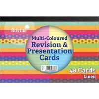 48 Silvine Revision and Presentation Cards - Multi Colour