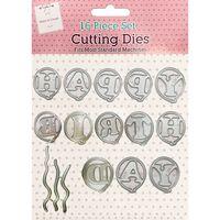 Happy Birthday Balloons Metal Cutting Die Set