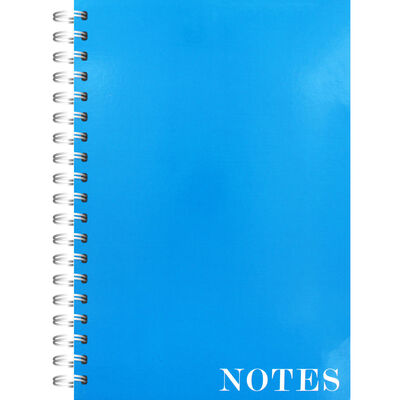 A4 Wiro Plain Blue Lined Notebook image number 1