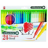 Antibacterial Fibre Pens: Pack of 24