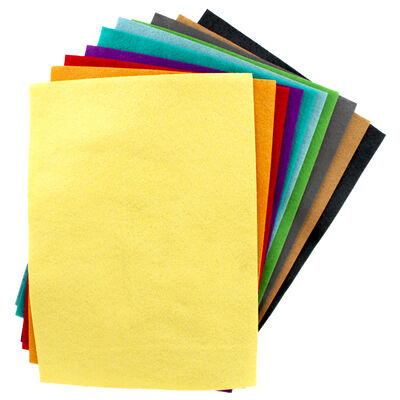 Sizzix A4 Brights Felt Sheets - 10 Pack image number 2