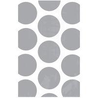 10 Silver Polka Dot Paper Favour Bags