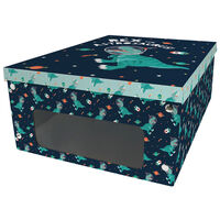 Dinosaur in Space Under Bed Collapsible Storage Box