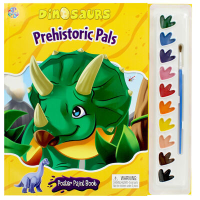 Dinosaurs Prehistoric Pals Poster Paint Book image number 1
