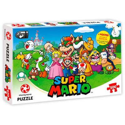Super Mario and Friends 500 Piece Jigsaw Puzzle image number 1