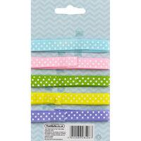 Pastel Polka Dot Easter Ribbon - 5 Pack
