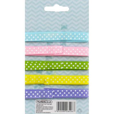 Pastel Polka Dot Easter Ribbon - 5 Pack image number 2